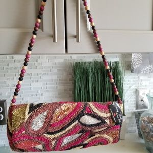 Timmy Woods Beaded Clutch